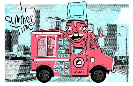 Food Truck Art Print