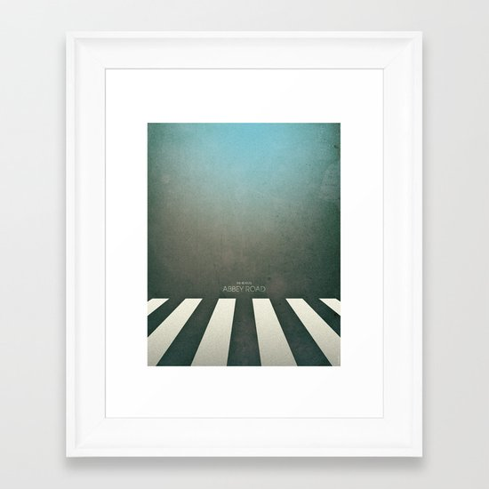 Smooth Minimal - Abbey road Framed Art Print