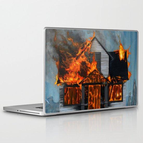 House on Fire Laptop & iPad Skin
