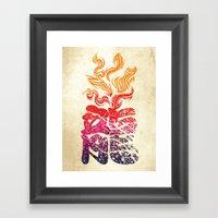 Dragon Flame  Framed Art Print