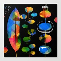 LEAFY ABSTRACTION Canvas Print