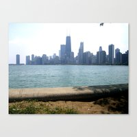 Chicago Across From Lake… Canvas Print