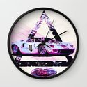 Ford Gt40// Le Mans Race Cars Wall Clock