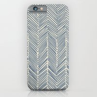 Freeform Arrows In Navy iPhone 6 Slim Case