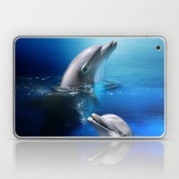 Dolphin Delight Laptop & iPad Skin