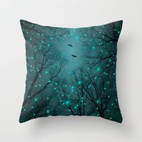 Throw Pillow featuring Silently, One by One, the Infinite Stars Blossomed (Geometric Stars Remix) by soaring anchor designs