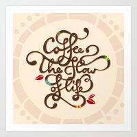 Coffee. The Flow Of Life… Art Print