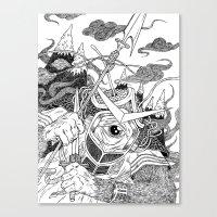 Cycloptic Samurai Canvas Print