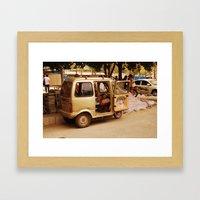 some kind of vehicle  Framed Art Print