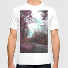 Passing Through II Mens Fitted Tee SMALL White