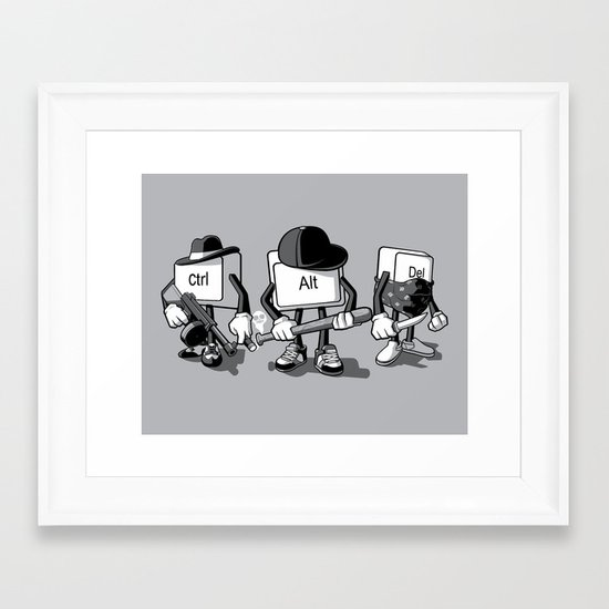 Computer Mafia Framed Art Print
