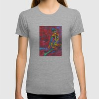 Colorful Nude Womens Fitted Tee Athletic Grey SMALL