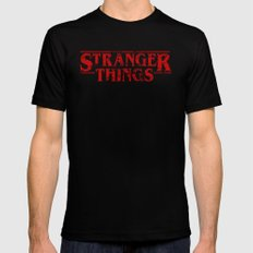Stranger Things Grunge Mens Fitted Tee Black SMALL