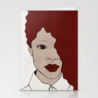 Female One Stationery Cards