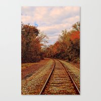Fall on the Tracks Canvas Print