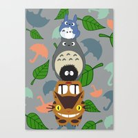 Totem Toto-ro  Canvas Print