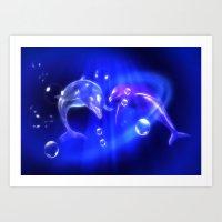 Delphine - Dolphins Art Print