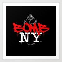 BOMB NY Art Print