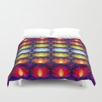 Variations on a Lotus I - Sparkle Brightly Duvet Cover