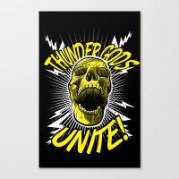 Thunder Gods Unite! Canvas Print
