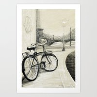 My Bike in New Brunswick Art Print