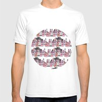 Bear And Macaroons!  Mens Fitted Tee White SMALL