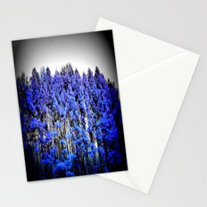 Periwinkle Trees Gray Sky Stationery Cards
