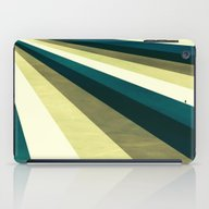 Green Ombre Stripes iPad Case