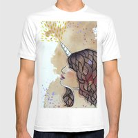 Unicorn Girl Mens Fitted Tee White SMALL