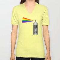Happiness Spray Can - Rainbow Unisex V-Neck