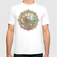 Time to Travel. Mens Fitted Tee SMALL White