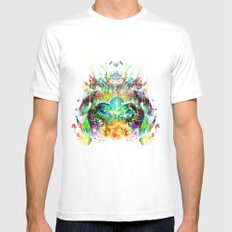 Emerge SMALL White Mens Fitted Tee
