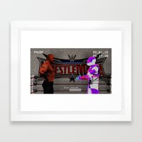 Training With The Rock Framed Art Print