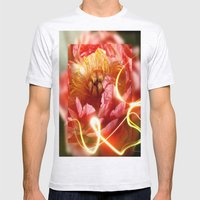 Enchanting Peony Mens Fitted Tee Ash Grey SMALL