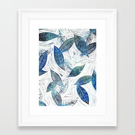 Blue Days of Winter Framed Art Print