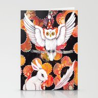 Stationery Cards featuring The Owl by Judy Skowron