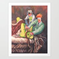 Beaker Slaying Honeydew Art Print