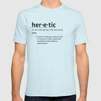 Heretic Mens Fitted Tee Light Blue SMALL