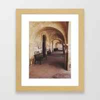 Old Spanish Architecture Framed Art Print