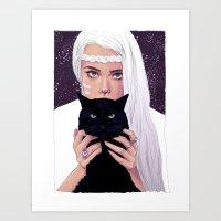 She Had Stars In Her Eye… Art Print