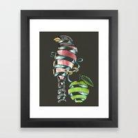 surrealist bird Framed Art Print