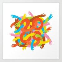 Tangled 2009 Art Print