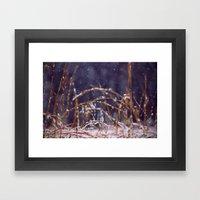 Light Snowfall Framed Art Print