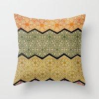 Pattern, Zig, Pattern, Z… Throw Pillow