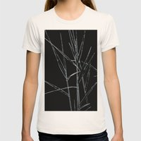 Water Reed Digital Art  Womens Fitted Tee Natural SMALL