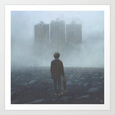 Boy and the Giants Art Print