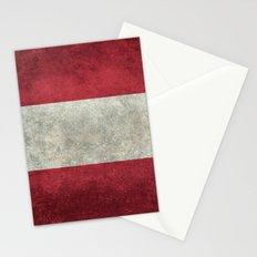 Austrian National Flag - Vintage Version Stationery Cards