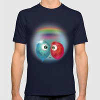 Hello Earthling - Love Mens Fitted Tee Navy SMALL