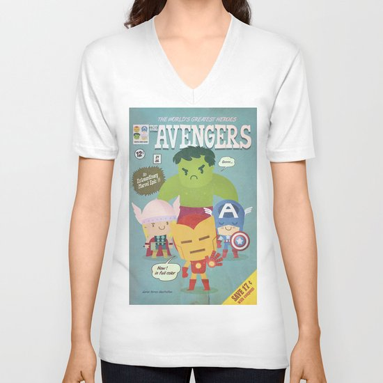 avengers fan art V-neck T-shirt
