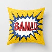 BAM Throw Pillow